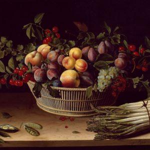 Sepette ki Meyvalar Yağlı Boya Çalışması