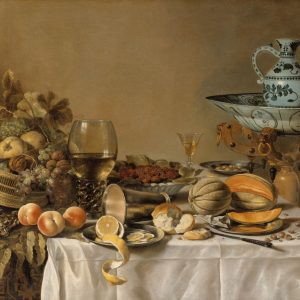 Pieter Claesz Doğa Ölümü Yağlı Boya Çalışması Barok Dönemi