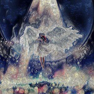 Oil Paint ve Kanvas Efekt Çalışması Angel Baby