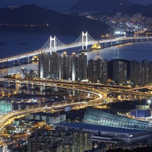 Gwangan Bridge Busan Güney Kore