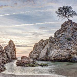 Platja De Le Mar Tossa Katalonya İspanya Büyük Ebatlarda