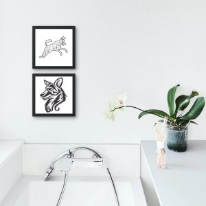 Hat Sanatı İle Çizilmiş Köpek Figürleri