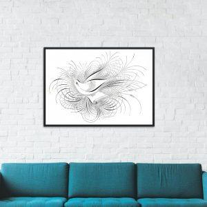 Hat Sanatı İle Yaratılmış Harika Kuş Çizimleri