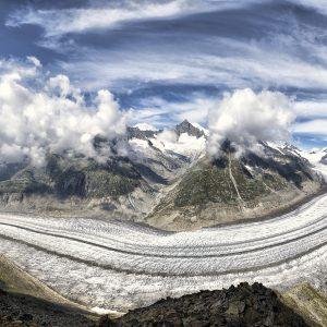 Büyük Aletsch Buzulu Alp Dağları İsviçre Büyük Ebatlarda