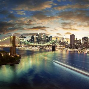 Brooklyn Köprüsü East River New York
