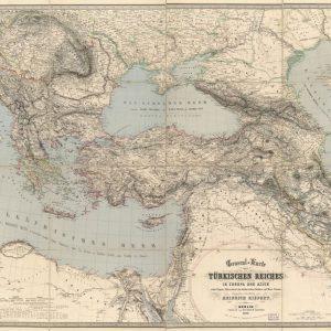 Türkiye Haritası 1855 Heinrich Kiepert