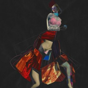 Abstract Çizim Renk Harmonisi Bir Kadın