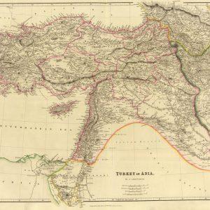 Türkiye Haritası 1852 John Arrowsmith Büyük Ebat