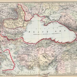 Türkiye Haritası Yunan, Rus Karadeniz İlleri Frank A. Gray 1879 Büyük Ebat