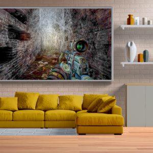 Metro Last Light Redux Kanvas Oil Paint Efekt Uygulaması 6 Adet Harika Ekran Görüntüsü 3 Ayrı Ebat