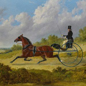 The Famous Trotter Confidence Drawing A Gig ( 1842) John Frederick Herring Snr. Yağlı Boya Eseri Oil Paint Efekti