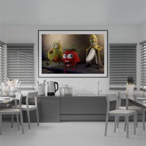 Mutfağınız İçin Çerçevelik Adult Meyva Çizimi